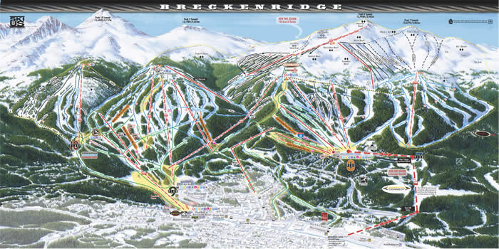 Breckenridge Colorado Trails Map