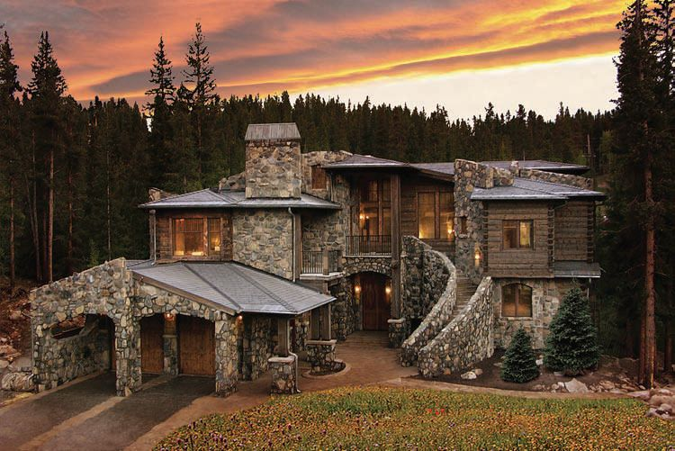 Colorado luxury mountain homes summit county log property for Montain house