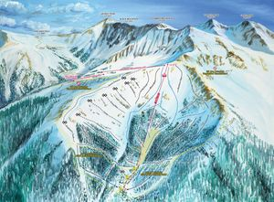 a basin ski slopes trail maps colorado