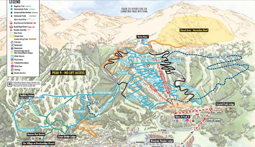 breckenridge bike map hiking trail colorado mountain