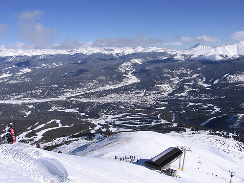 Highest Chair lift in North America Imperial Express SuperChair  Breckenridge